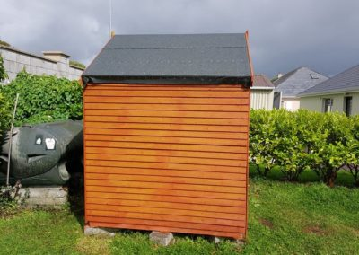 refelt shed roof - after