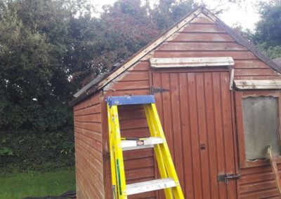repair garden shed - before