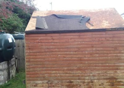 repair shed roof - before