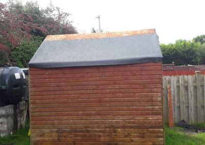 repair shed roof - during